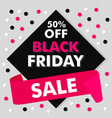 black friday concept background flat style vector image