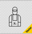 black line car mechanic icon isolated on vector image vector image