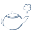 boiling kettle vector image vector image