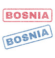 bosnia textile stamps vector image vector image