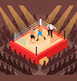 boxing isometric vector image