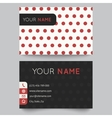 Business card template red and white pattern vector image