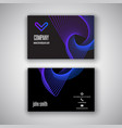 business card with retro design vector image vector image