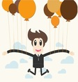 Businessman holding a balloon vector image