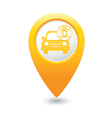 cars first aid kit MAP pointer yellow vector image