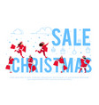 christmas sale banner template vector image