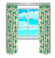 classic window and view of sky and clouds vector image vector image