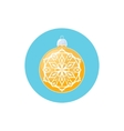 Colorful Icon Yellow Ball with Snowflake vector image vector image