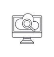 computer online search line icon concept computer vector image vector image