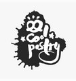 cool pastry in an ink blot vector image vector image