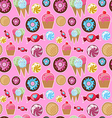 Cool seamless pattern sweets vector image