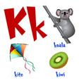 cute kids cartoon alphabet letter k