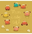 cute of colorful crabs and vector image vector image