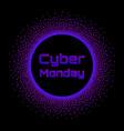 cyber monday sale concept banner neon burst vector image vector image