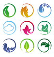 design elements with nature signs vector image