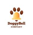 doggy bell icon logo design vector image vector image