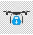 Drone Drop Cargo Icon vector image vector image