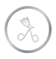 Eyelash curler icon in cartoon style isolated on vector image vector image