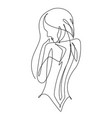 female figure continuous line art 2 vector image