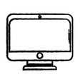 figure monitor screen technology with electronic vector image vector image