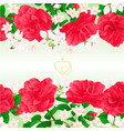 floral border seamless horizontal background vector image vector image