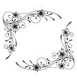 Floral element ornament vector image vector image