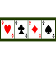 Four Card Aces vector image