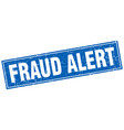 fraud alert square stamp vector image vector image