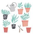 gardening elements vector image vector image