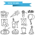 Hand draw icons New Year and Merry Christmas vector image vector image
