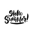 hand drawn lettering about summer isolated vector image