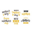 happy mothers day greeting cards holiday set vector image vector image