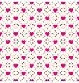 Heart shape seamless pattern Pink and vector image vector image