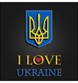 I love Ukraine Stylish for t-shirts mugs caps vector image