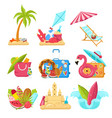 images that capture the spirit of summer vector image