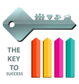 key to success concept background template 2 vector image vector image