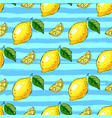 lemon tropics seamless pattern hand-drawn vector image vector image