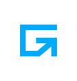 letter g arrow logo design vector image vector image