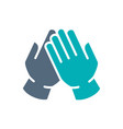 medical latex gloves colored icon hand vector image vector image