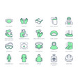 medical ppe line icons vector image vector image