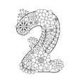 Number 2 coloring book for adults vector image vector image