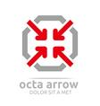 octa arrow design icon symbol star vector image vector image