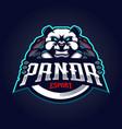 panda gaming logo vector image vector image