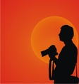 Photographer Silhouette vector image vector image