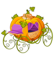 Pumpkin Turn into a Carriage for Cinderella vector image vector image