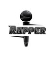 rapper word design with microphone vector image