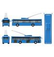 realistic trolleybus vector image vector image