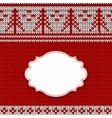 Red knitted background vector image vector image
