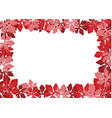 red leaf frame vector image