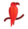 red parrot icon cartoon style vector image